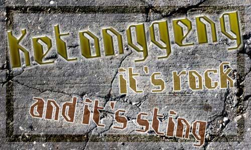 Ketonggeng font by BangDje