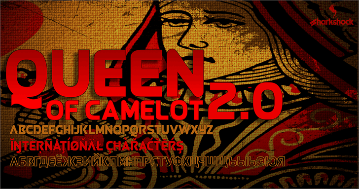 Queen of Camelot 2.0 font by sharkshock
