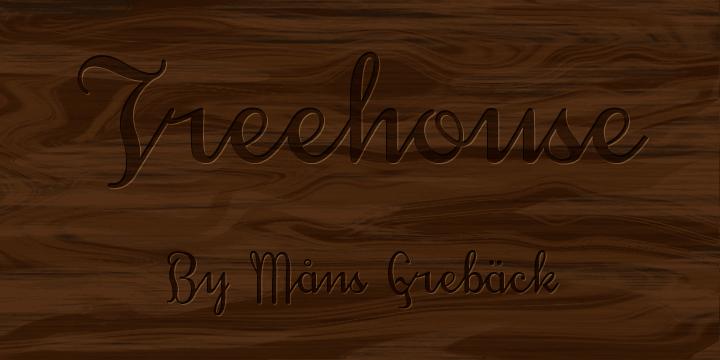Treehouse DEMO font by Måns Grebäck