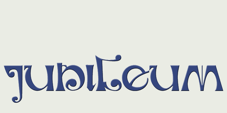 DK Jubileum font by David Kerkhoff