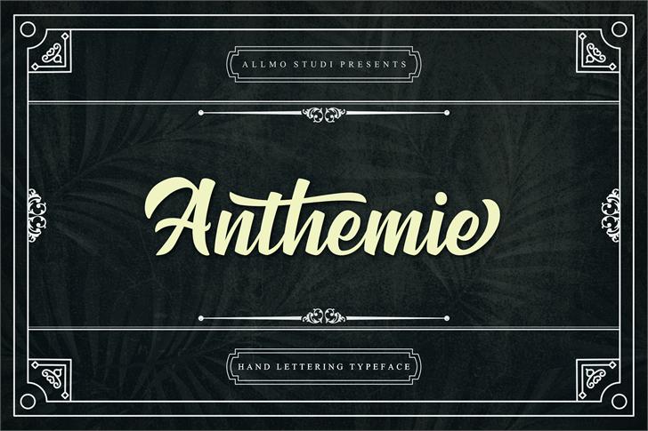 Anthemie font by Allmostudio