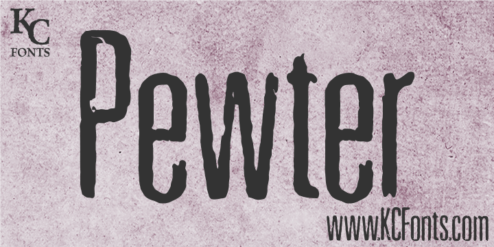 Pewter font by KC Fonts