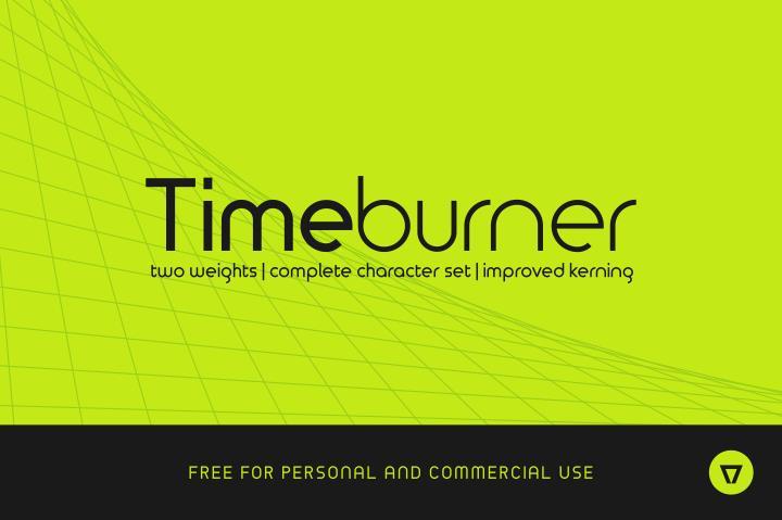 TimeBurner font by NimaVisual