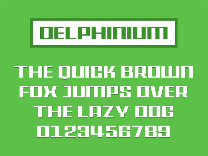 Delphinium font by Jamel E. Robin