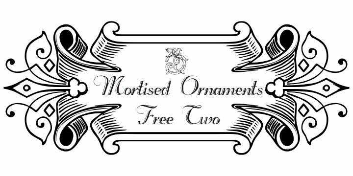 Mortised Ornaments Free Two font by Intellecta Design