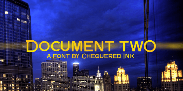 Document Two font by Chequered Ink