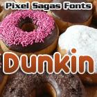 Dunkin font by Pixel Sagas