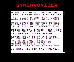 Synchronizer NBP font by total FontGeek DTF, Ltd.
