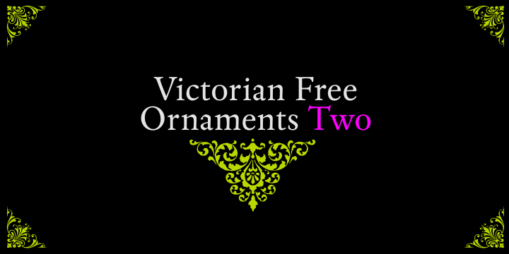 Victorian Free Ornaments Two font by Intellecta Design