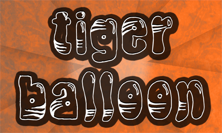 TigerBalloon font by CloutierFontes
