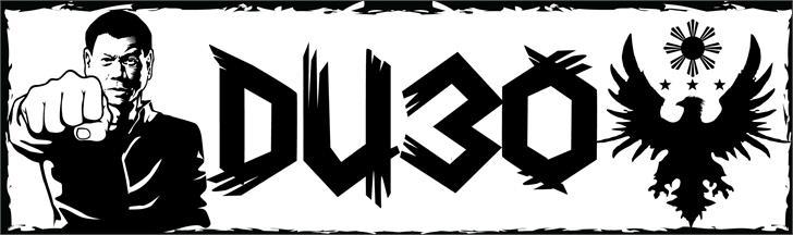 DU30 font by VVB DESIGNS