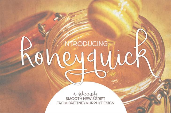 honeyquick font by Brittney Murphy Design