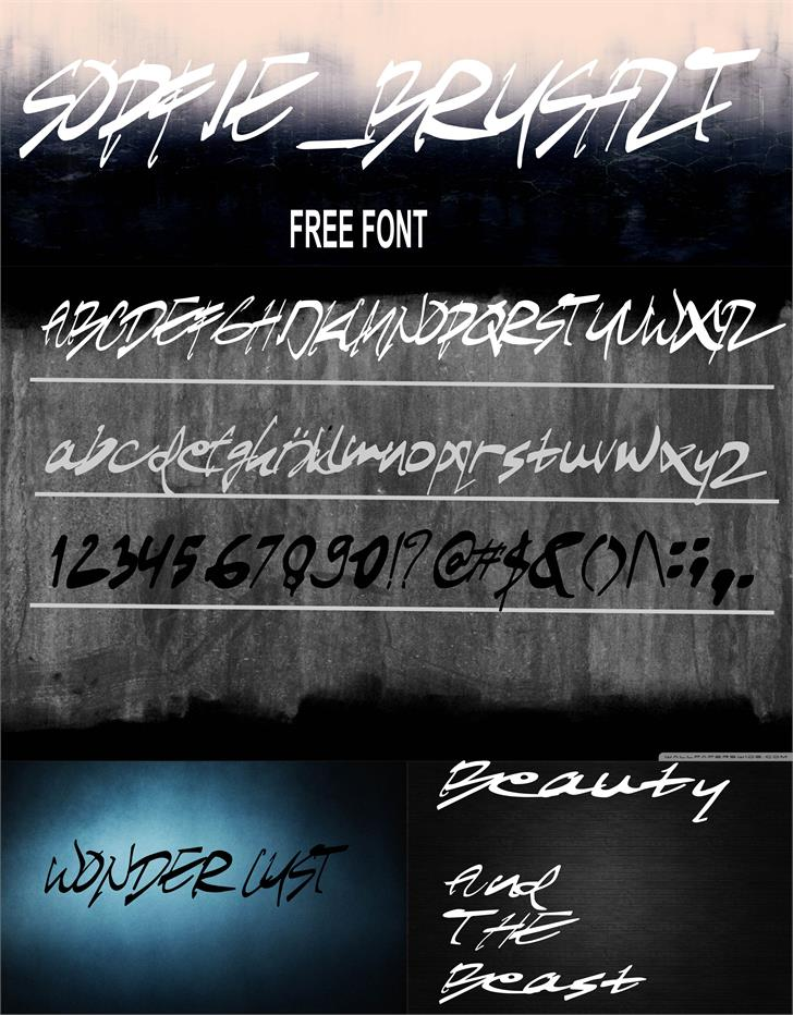 SOFIEbrushZT font by Zatari