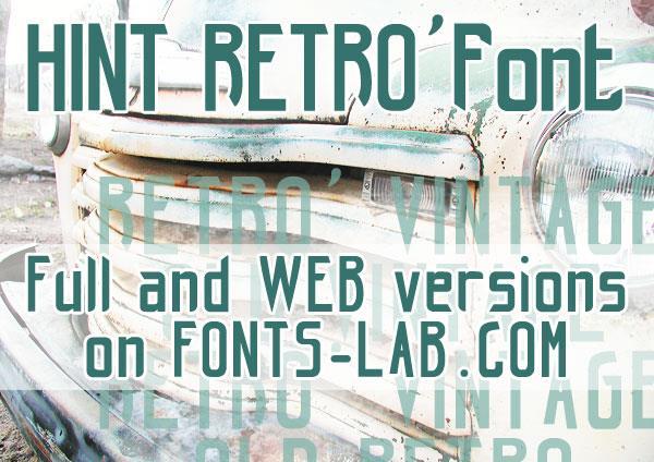 hint-retrò_free-version font by FontsCafe