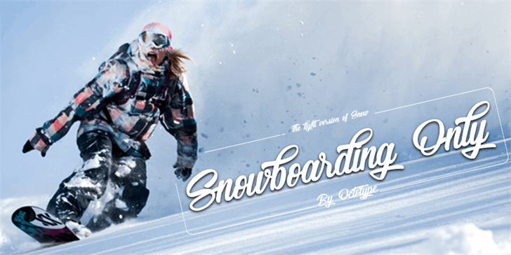 Snowboarding Only font by Octotype
