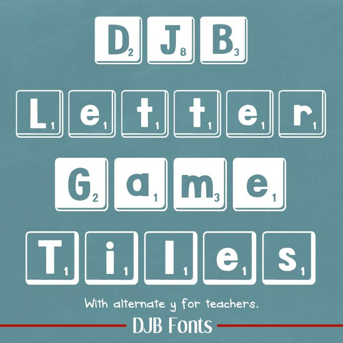 DJB Letter Game Tiles font by Darcy Baldwin Fonts