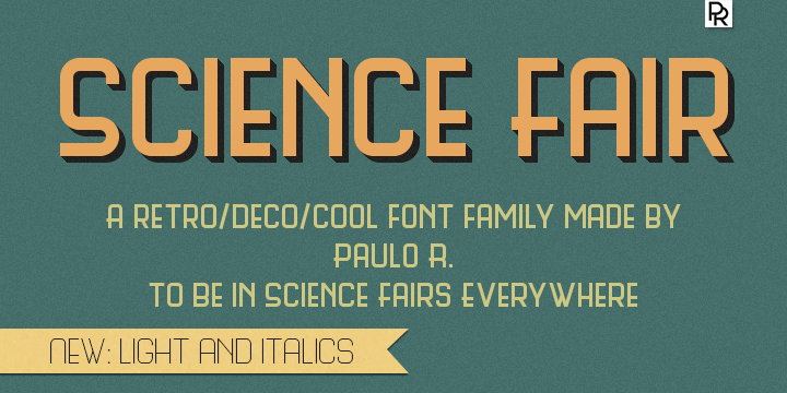 Science Fair font by Paulo R