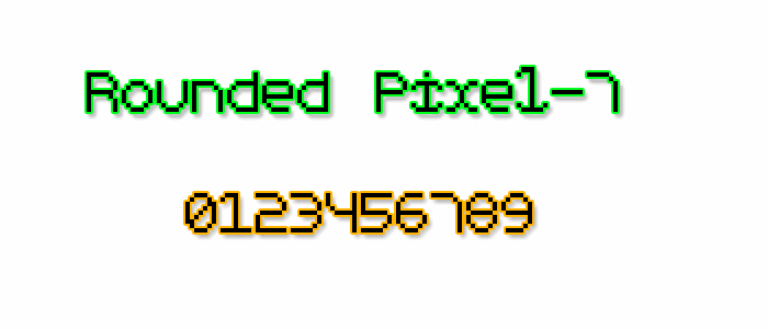 Rounded Pixel-7 font by Style-7