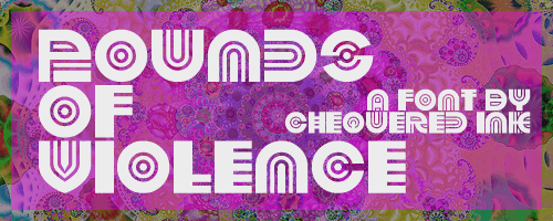 Pounds of Violence font by Chequered Ink