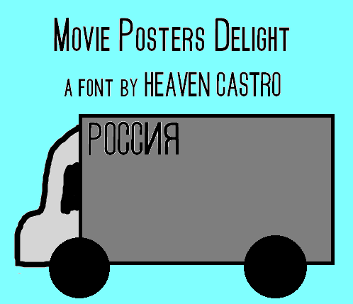 Movie Posters Delight font by heaven castro