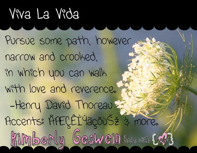 Viva La Vida font by Kimberly Geswein