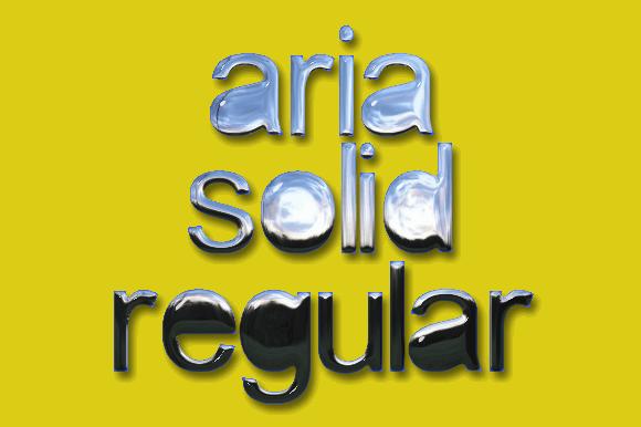 aria solid font by Grafito Design