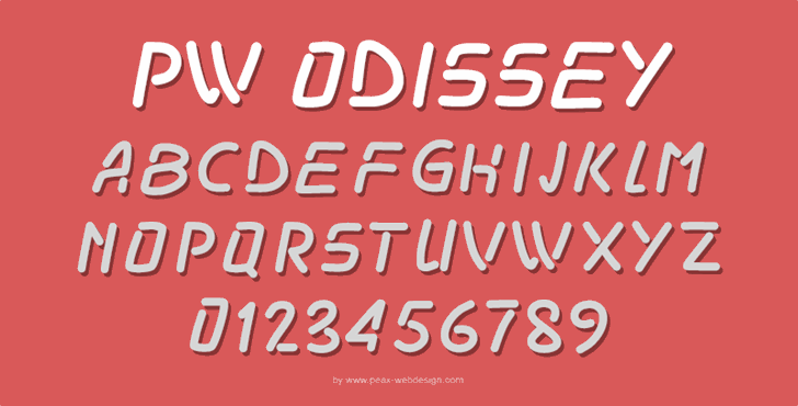 PWOdissey font by Peax Webdesign