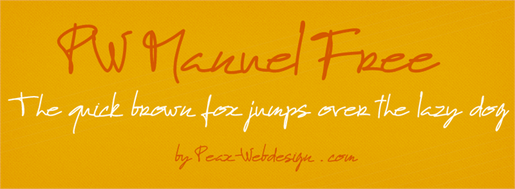 PWManuelfree font by Peax Webdesign