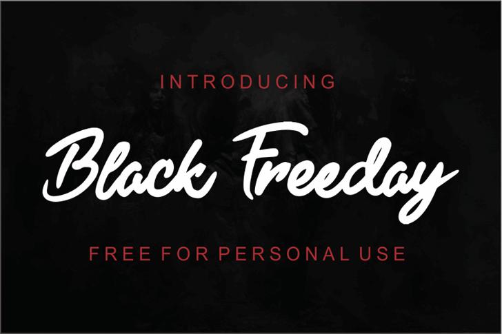 Black Freeday font by figuree