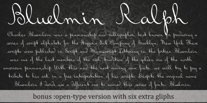 Bluelmin Ralph font by Intellecta Design