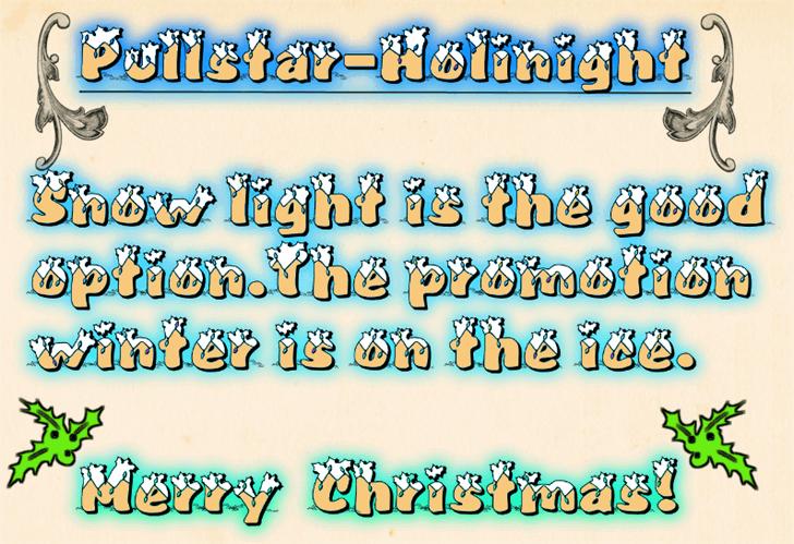 Pullstar-Holinight font by fontden