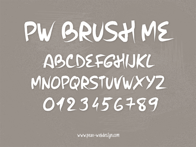 PW Brush Me font by Peax Webdesign