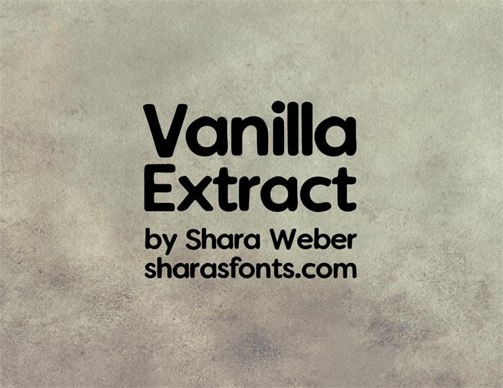 Vanilla Extract font by Shara Weber