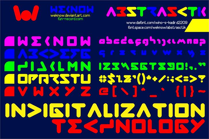 abstrasctik font by weknow