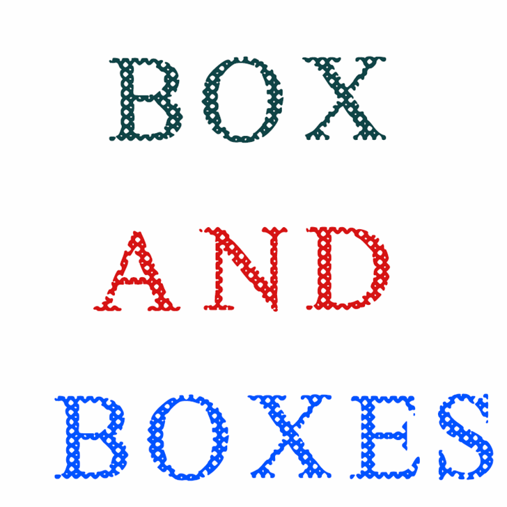 Box And Boxes font by Nouman