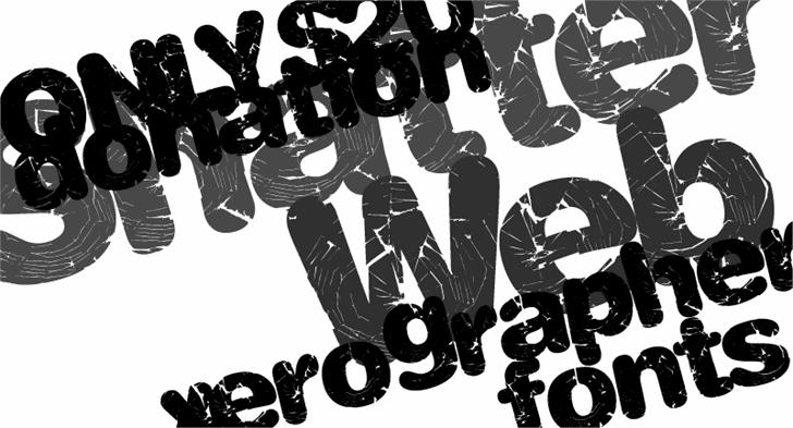 ShatterWeb font by Xerographer Fonts