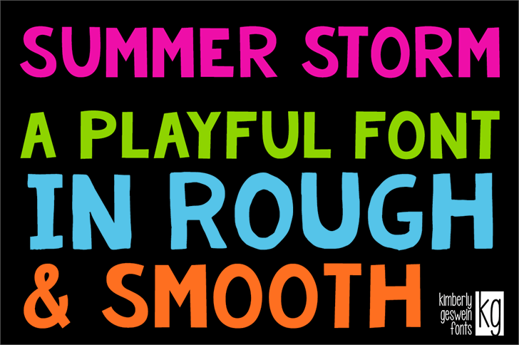 KG Summer Storm Rough font by Kimberly Geswein
