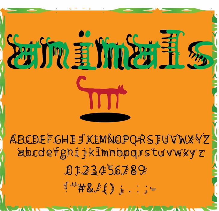 animals font by Cé - al