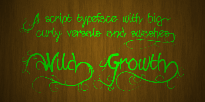Wild Growth font by Måns Grebäck