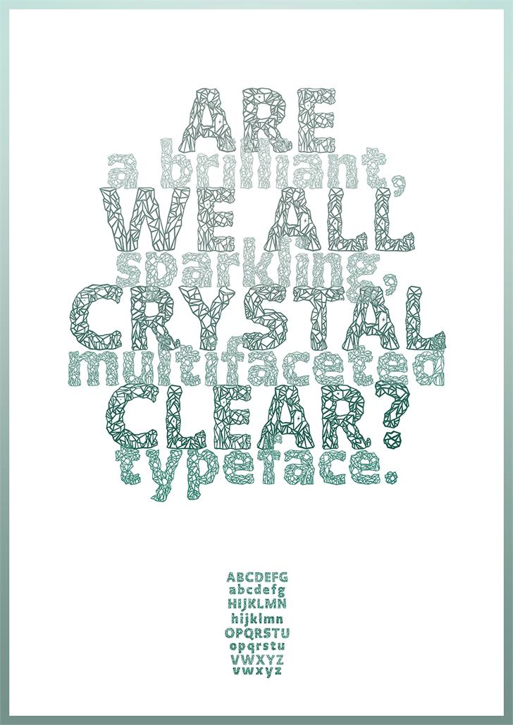 Crystalline font by Arthus