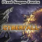 Cyberfall font by Pixel Sagas