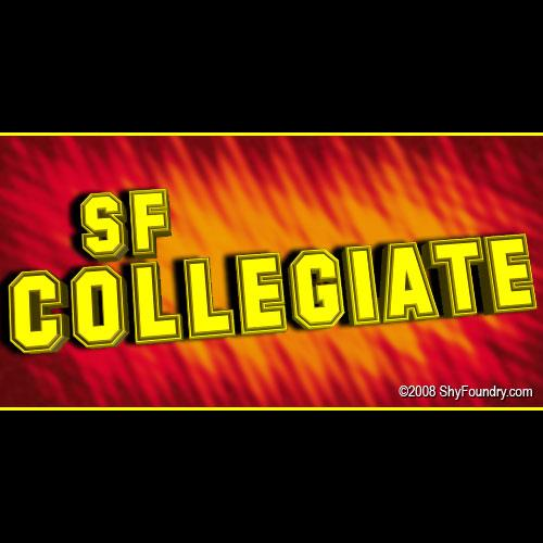 SF Collegiate font by ShyFoundry