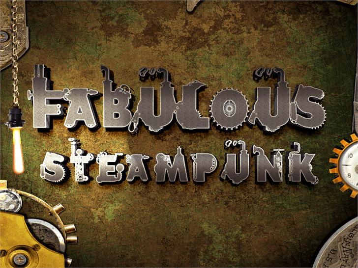 Fabulous Steampunk font by Marta van Eck Designs