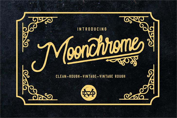Moonchrome  Rough font by madeDeduk