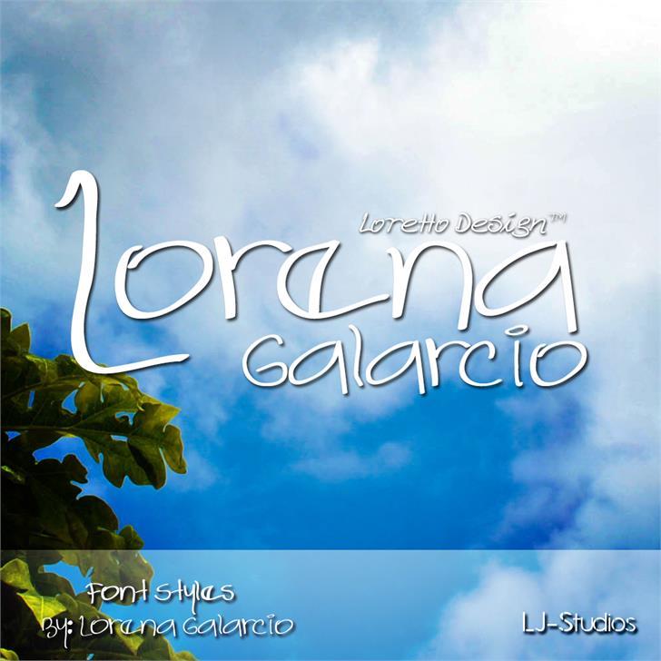 Lorena Galarcio font by LJ Design Studios