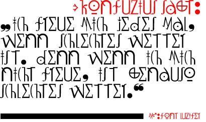 LuziFer font by Manfred Klein