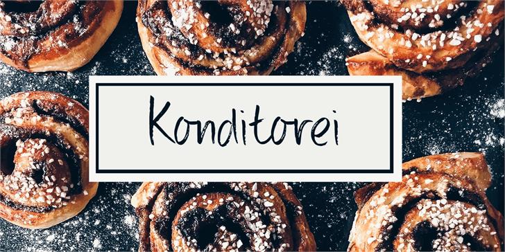 DK Konditorei font by David Kerkhoff