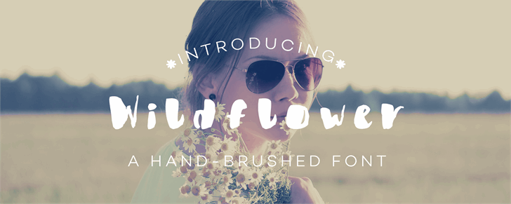 Wildflower font by Creative Two