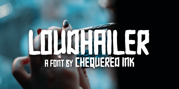 Loudhailer font by Chequered Ink
