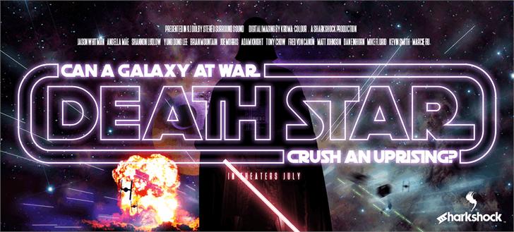 Death Star font by sharkshock